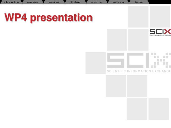 WP4 presentation