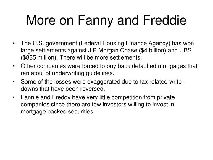 More on Fanny and Freddie