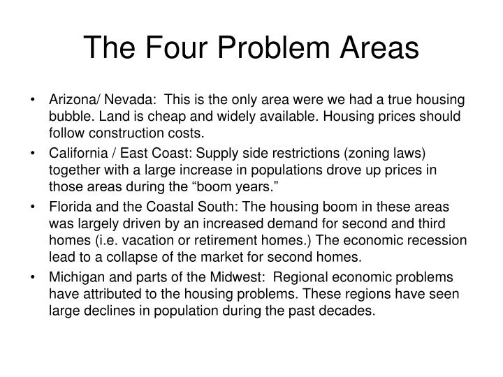 The Four Problem Areas