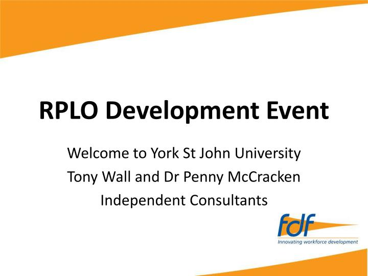Rplo development event