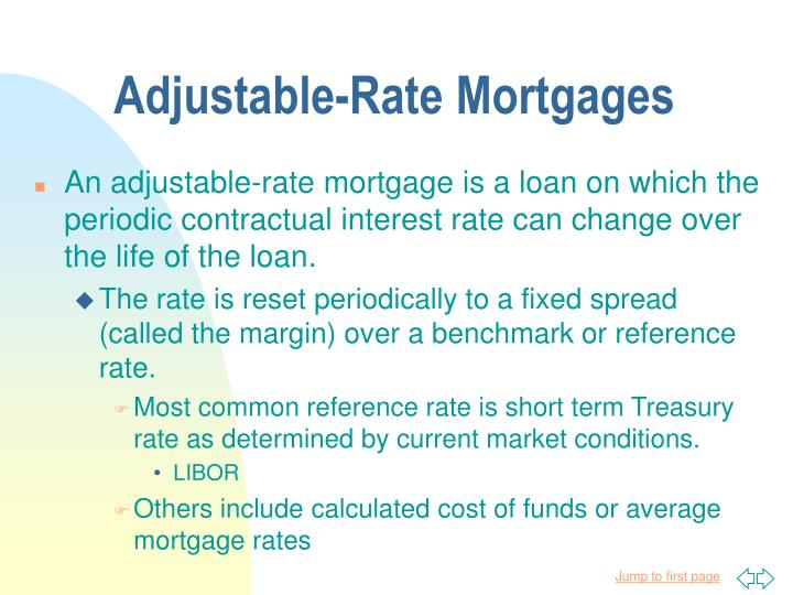 Adjustable-Rate Mortgages