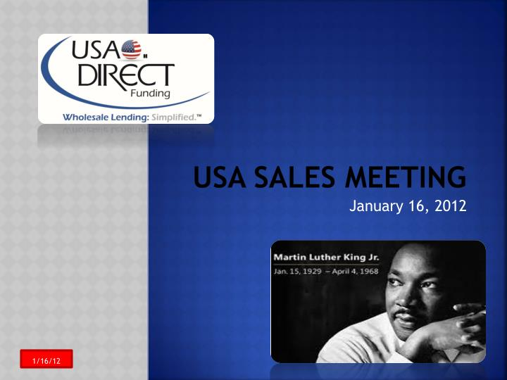 Usa sales meeting