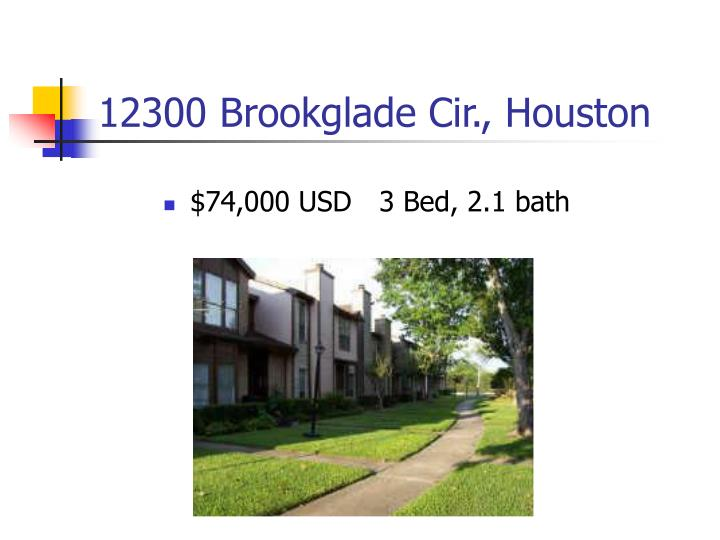 12300 Brookglade Cir., Houston