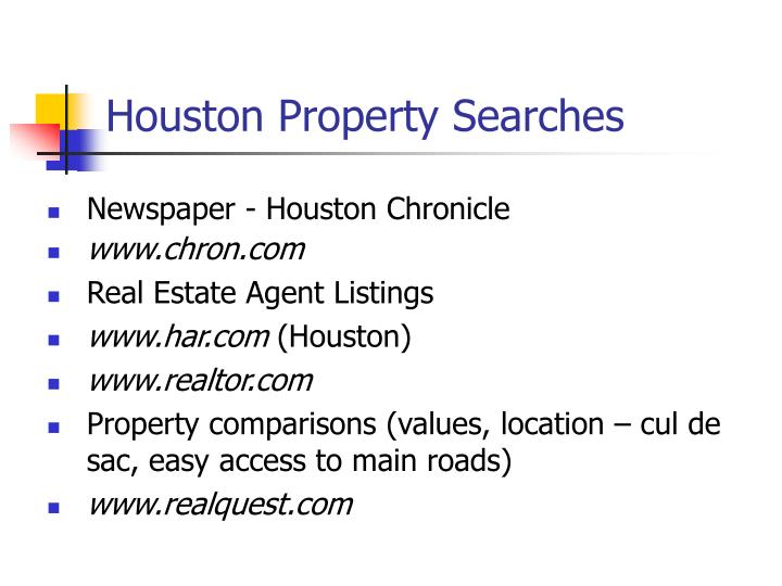 Houston Property Searches