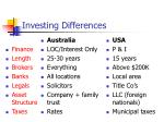 investing differences