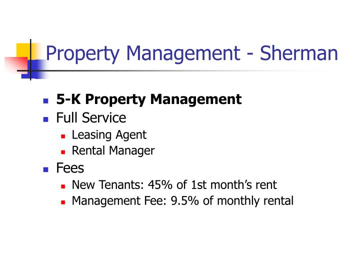 Property Management - Sherman