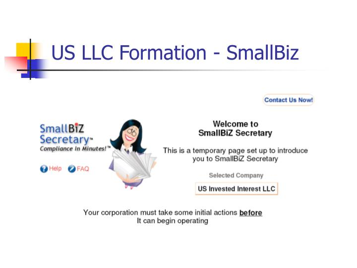 US LLC Formation - SmallBiz
