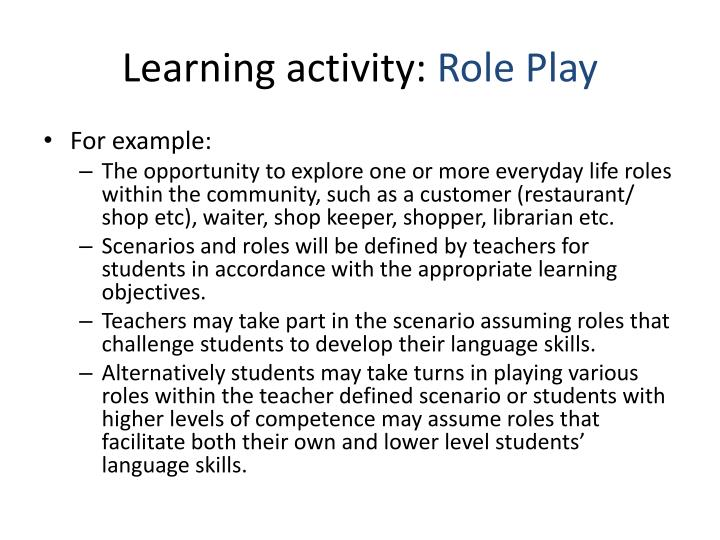 Learning activity: