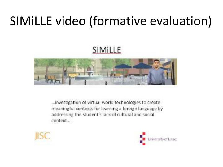 SIMiLLE video (formative evaluation)