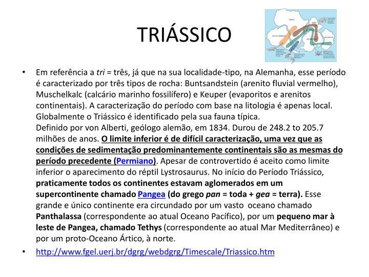 TRIÁSSICO