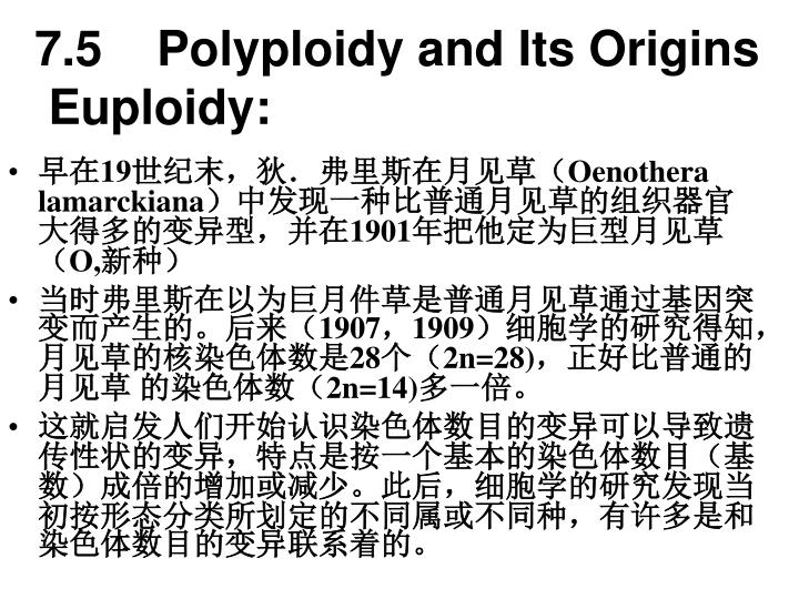 7.5    Polyploidy and Its Origins