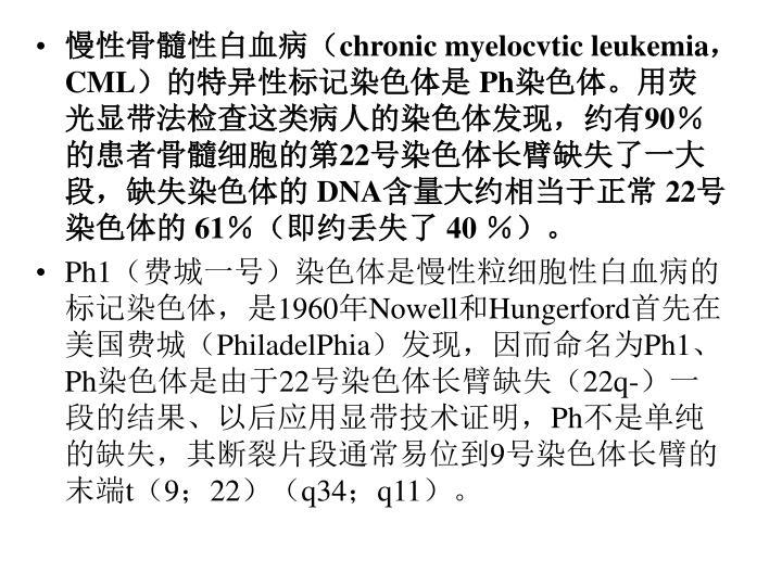慢性骨髓性白血病(