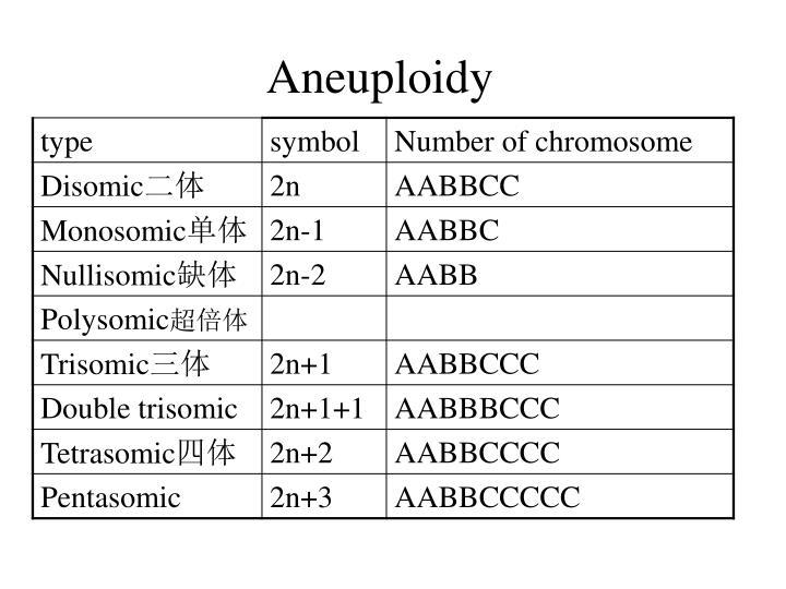 Aneuploid