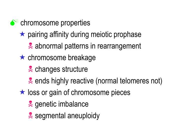 chromosome properties