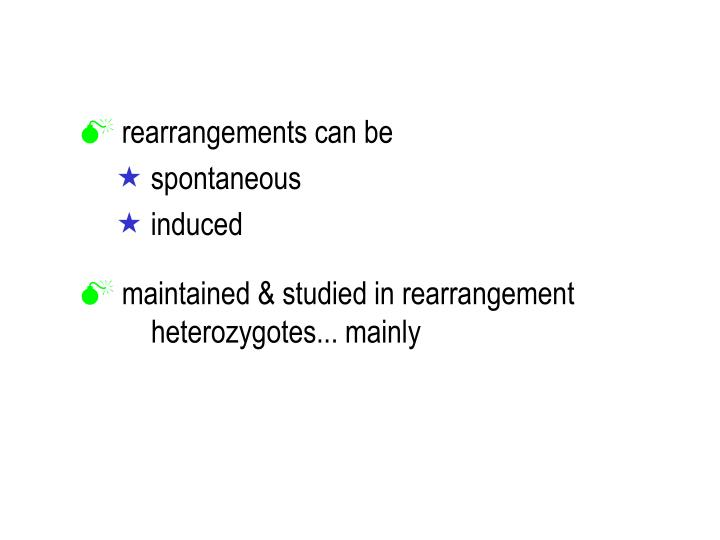 rearrangements can be