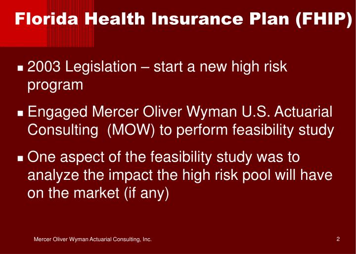 Florida Health Insurance Plan (FHIP)