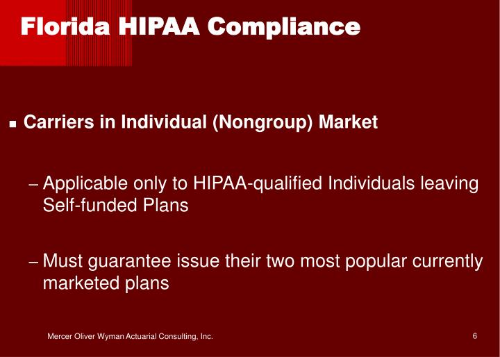 Florida HIPAA Compliance