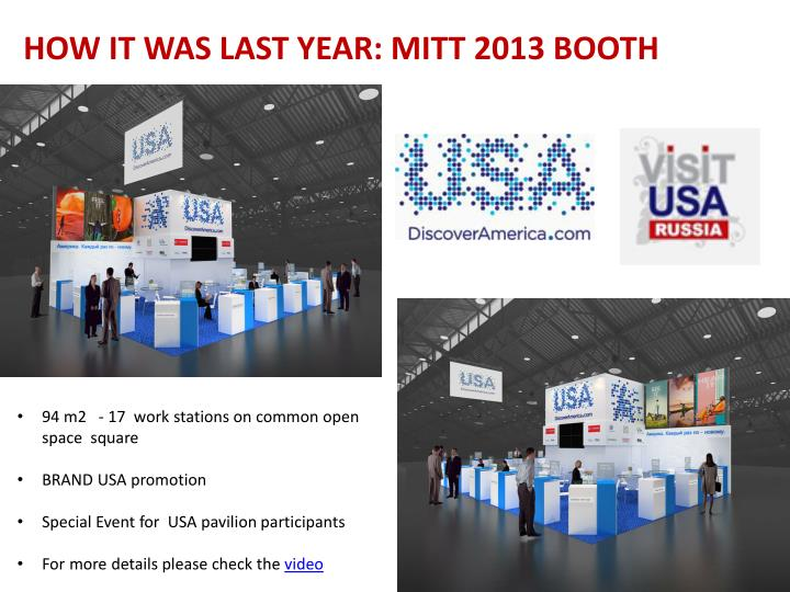 HOW IT WAS LAST YEAR: MITT 2013 BOOTH