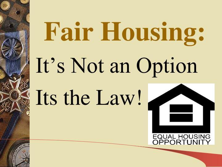 Fair Housing: