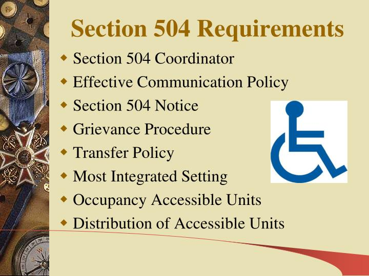 Section 504 Requirements