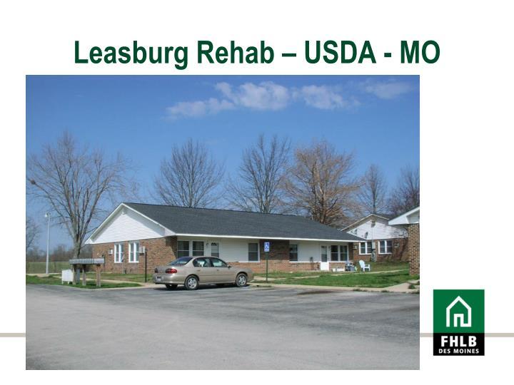 Leasburg Rehab – USDA - MO