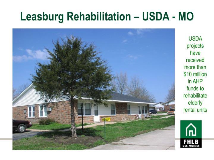 Leasburg Rehabilitation – USDA - MO