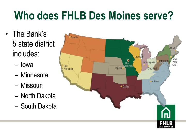 Who does fhlb des moines serve