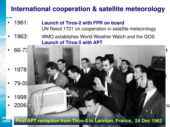 First APT reception from Tiros-5 in Lannion, France,  24 Dec 1962