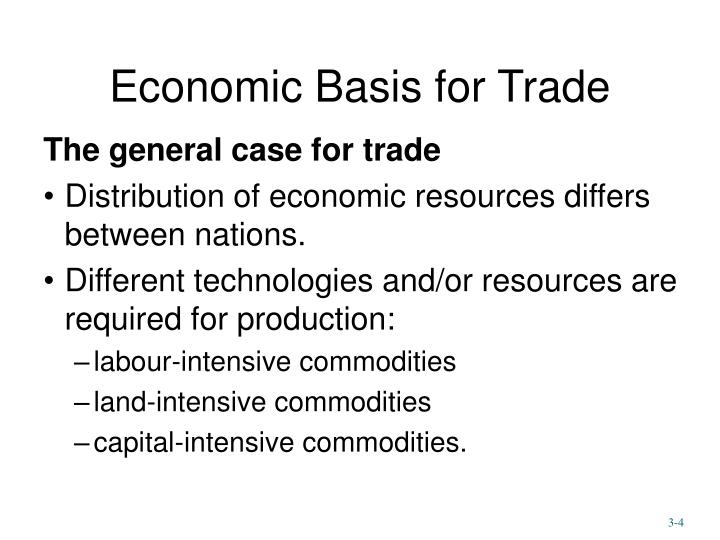Economic Basis for Trade