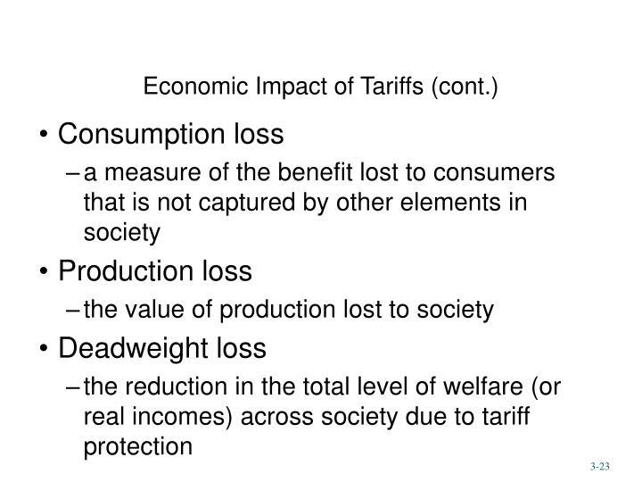 Economic Impact of Tariffs (cont.)