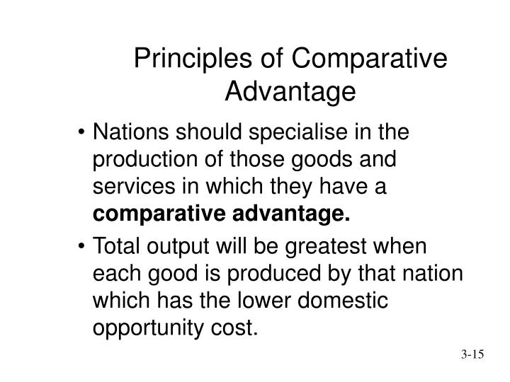Principles of Comparative Advantage
