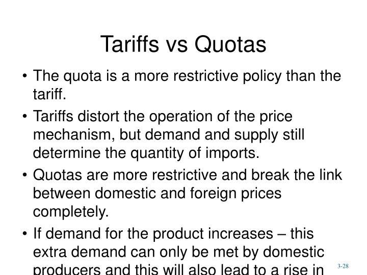 Tariffs vs Quotas