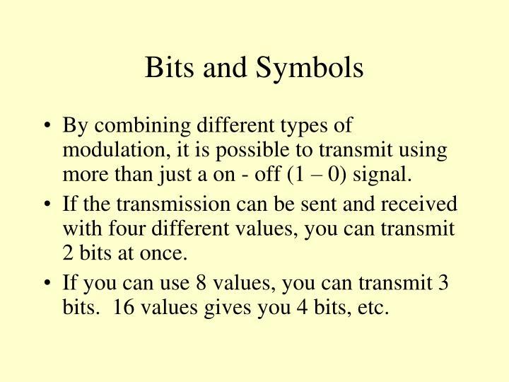 Bits and Symbols