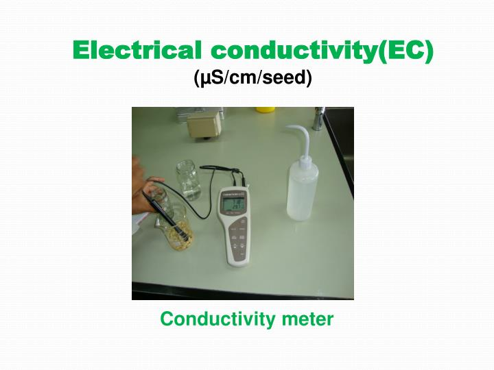 Electrical conductivity(EC)