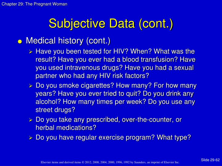 Subjective Data