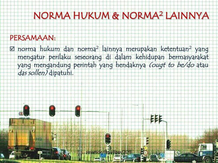 NORMA HUKUM & NORMA