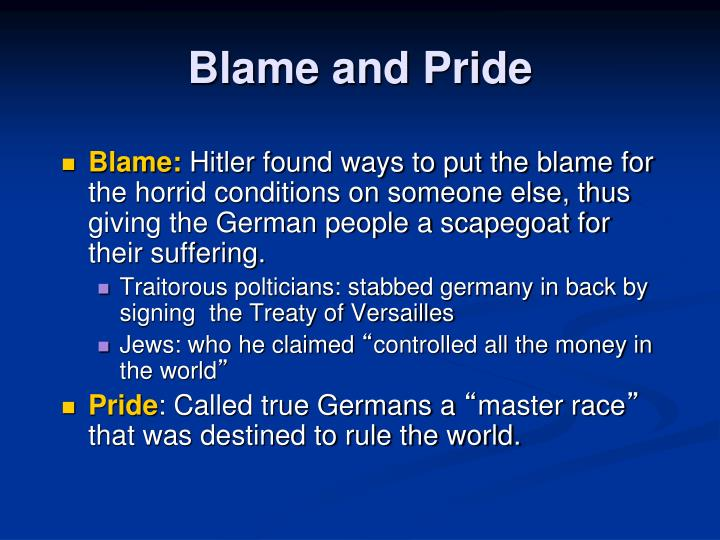 Blame and Pride