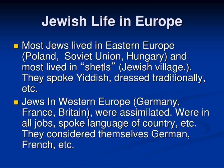 Jewish Life in Europe