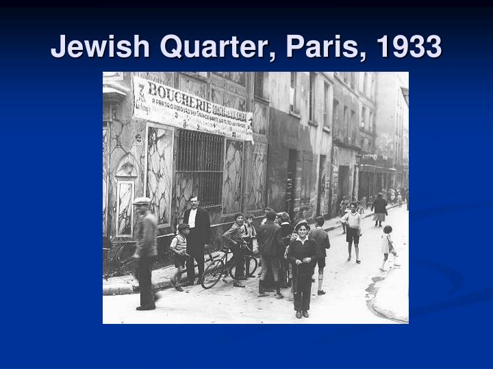Jewish Quarter, Paris, 1933