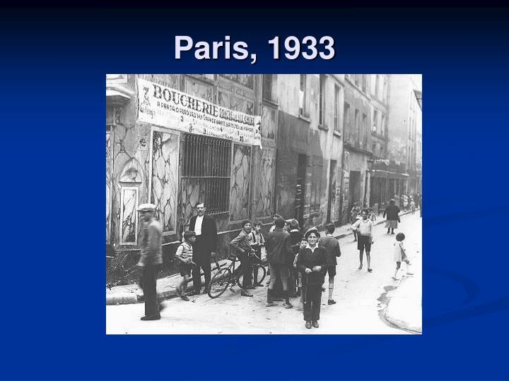 Paris, 1933