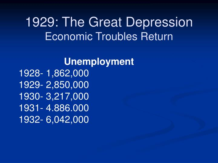 1929: The Great Depression