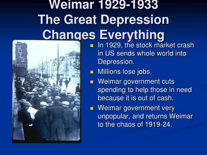 Weimar 1929-1933
