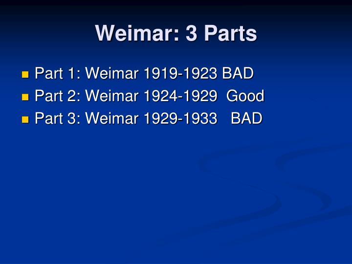 Weimar: 3 Parts