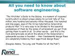 all you need to know about software engineering