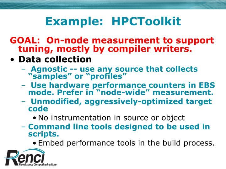 Example:  HPCToolkit