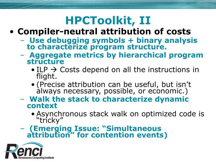 HPCToolkit, II