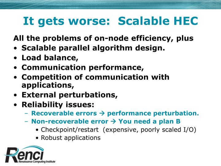 It gets worse:  Scalable HEC