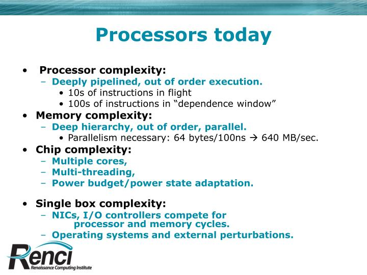 Processors today
