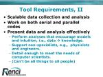 tool requirements ii
