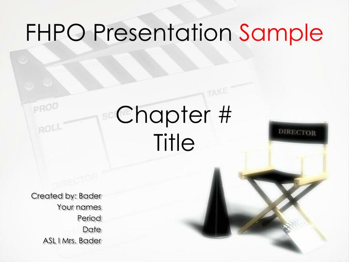 Fhpo presentation sample